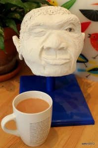 Even Neanderthals need a cuppa in the morning.