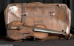 "The band member who gave the violin to its current home said, ""it is virtually unplayable, doubtless due to its eventful life."""
